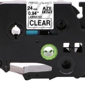 Taśma AZe-151 przezroczysta/ czarny nadruk