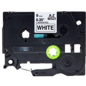 Taśma AZe-221 biała/ czarny nadruk
