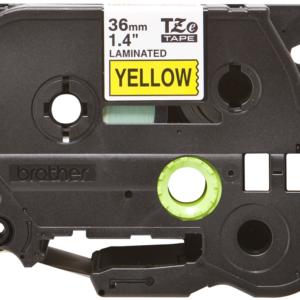 Taśma TZe-661 żółta/ czarny nadruk