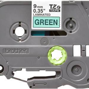 Taśma TZe-721 zielona/ czarny nadruk