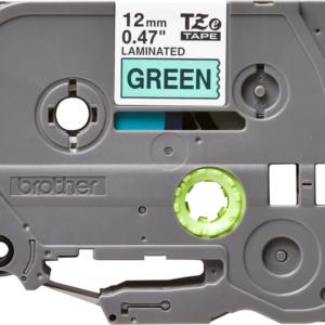 Taśma TZe-731 zielona/ czarny nadruk