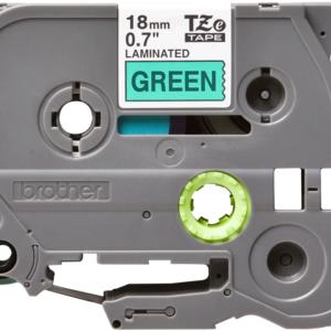 Taśma TZe-741 zielona/ czarny nadruk