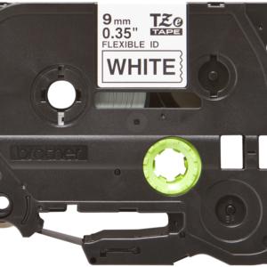 Taśma TZe-FX221 biała/ czarny nadruk elastyczna