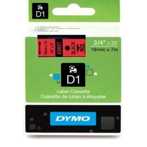 Taśma Dymo 45807 czerwona/czarny nadruk