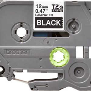 Taśma TZe-335 czarna/ biały nadruk