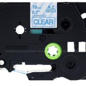 Taśma AZe-143 przezroczysta/ niebieski nadruk