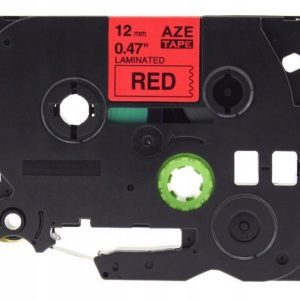 Taśma AZe-431 zamiennik Brother TZe-431 TZ431 czerwona/ czarny nadruk