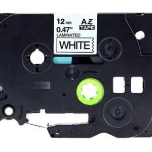 Taśma AZe-231 biała/ czarny nadruk
