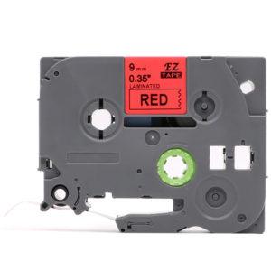 Taśma AZe-421 zamiennik Brother TZ-421 czerwona/ czarny nadruk