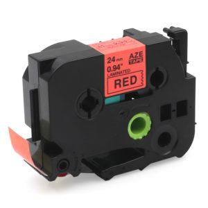 Taśma AZe-451 zamiennik Brother TZe-451 TZ451 czerwona/ czarny nadruk