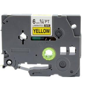 Taśma AZe-611 zamiennik Brother TZe-611 TZ611 żółta/ czarny nadruk