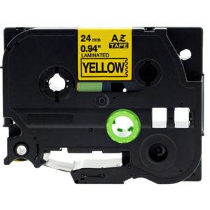 Taśma AZe-651 zamiennik Brother TZe-651 TZ651 żółta/ czarny nadruk