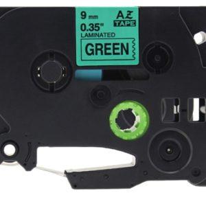 Taśma AZe-731 zamiennik Brother TZe-731 TZ731 zielona/ czarny nadruk