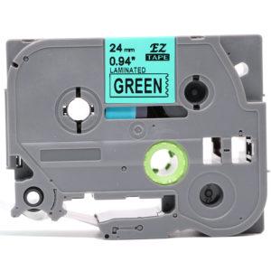 Taśma AZe-751 zamiennik Brother TZe-751 TZ751 zielona/ czarny nadruk