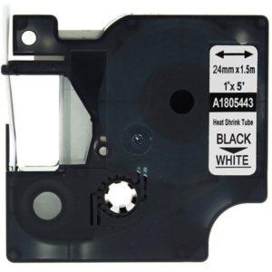 Taśma termokurczliwa 1805443 biała/czarny nadruk