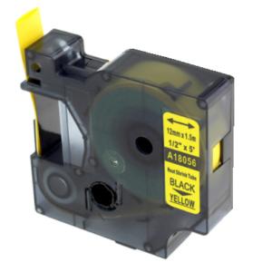 Taśma termokurczliwa 18056 (s0718310) żółta/czarny nadruk