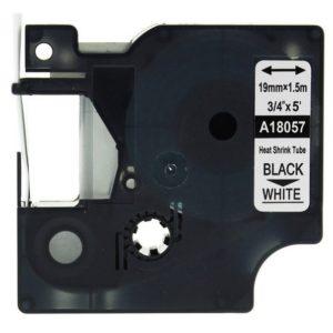 Taśma termokurczliwa zamiennik Dymo 18057 (s0718300) biała/czarny nadruk