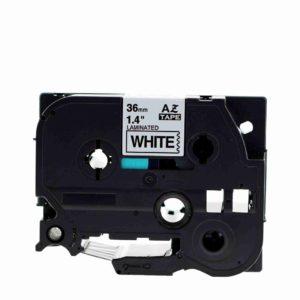 Taśma AZe-261 biała/ czarny nadruk