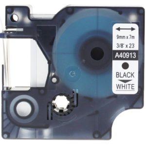 Taśma zamiennik Dymo 40913 (s0720680) biała/czarny nadruk