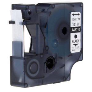 Taśma zamiennik Dymo 45010 (s0720600) przezroczysta/czarny nadruk