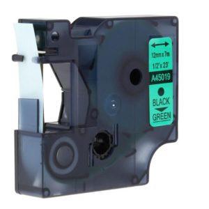 Taśma 45019 (s0720590) zielona/czarny nadruk