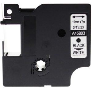 Taśma 45803 (s0720830) biała/czarny nadruk