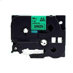 Taśma AZe-761 zamiennik Brother TZe-761 TZ761 zielona/ czarny nadruk