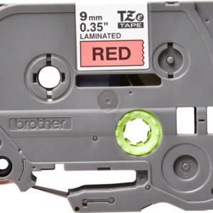 Taśma Brother TZe-421 czerwona/ czarny nadruk