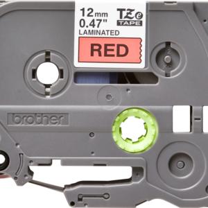 Taśma TZe-431 czerwona/ czarny nadruk