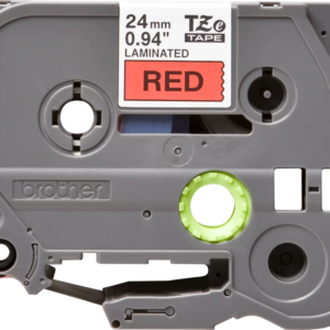 Taśma Brother TZe-451 czerwona/ czarny nadruk