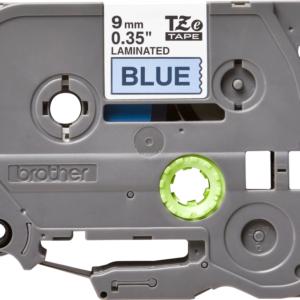 Taśma Brother TZe-521 TZ521 niebieska/ czarny nadruk