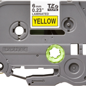 Taśma Brother TZe-611 żółta/ czarny nadruk