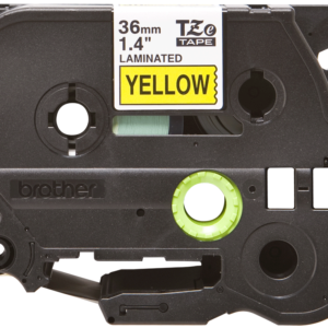 Taśma Brother TZe-661 żółta/ czarny nadruk