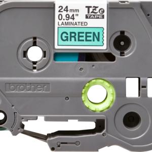 Taśma Brother TZe-751 zielona/ czarny nadruk