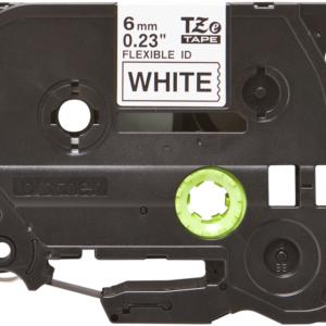 Taśma Brother TZe-FX211 TZFX211 biała/ czarny nadruk elastyczna