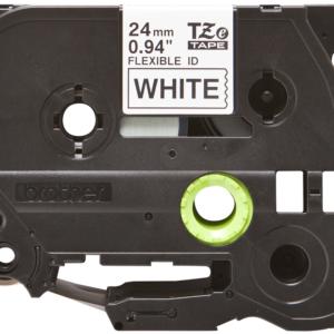 Taśma Brother TZe-FX251 TZFX251 biała/ czarny nadruk elastyczna