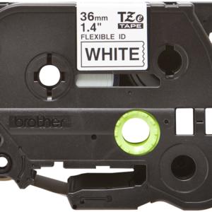 Taśma Brother TZe-FX261 TZFX261 biała/ czarny nadruk elastyczna