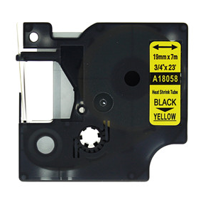 Taśma termokurczliwa 18058 (s0718340) żółta/czarny nadruk