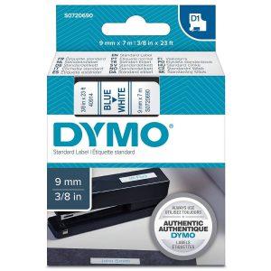 Taśma Dymo 40914 biała/niebieski nadruk