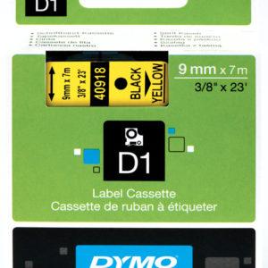 Taśma Dymo 40918 żółta/czarny nadruk