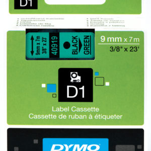 Taśma Dymo 40919 zielona/czarny nadruk
