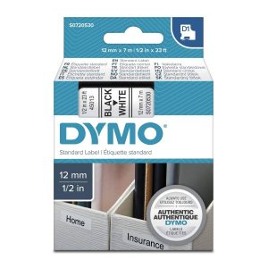 Taśma Dymo 45013 (s0720530) biała/czarny nadruk