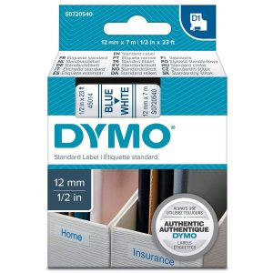 Taśma Dymo 45014 biała/niebieski nadruk