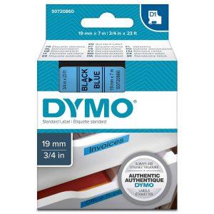 Taśma Dymo 45806 niebieska/czarny nadruk