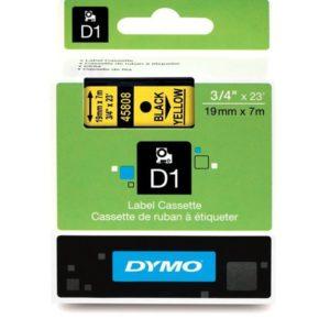 Taśma Dymo 45808 żółta/czarny nadruk