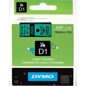 Taśma Dymo 45809 zielona/czarny nadruk