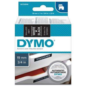 Taśma Dymo 45811 czarna/biały nadruk
