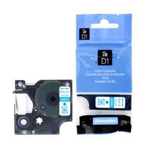 Taśma 45014 (s0720540) 12mm biała/niebieski nadruk