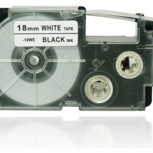 Taśma XRA-18WE1 biała/ czarny nadruk
