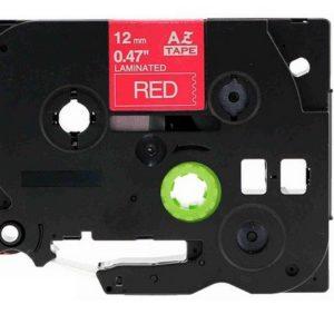 Taśma AZe-435 czerwona/ biały nadruk